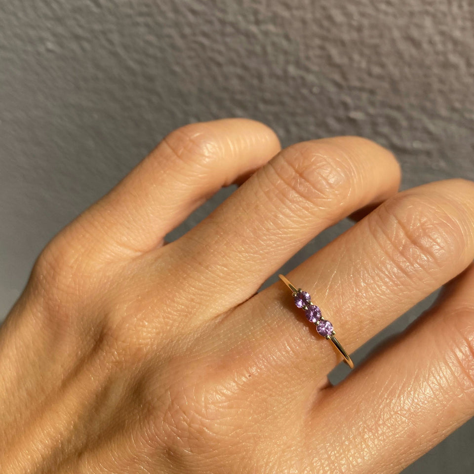 3S PINK SAPPHIRE RING