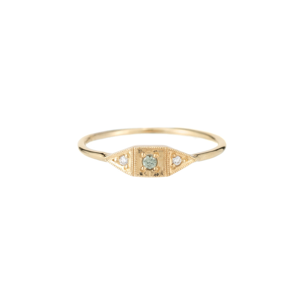 GREEN SAPPHIRE MINI DECO POINT RING
