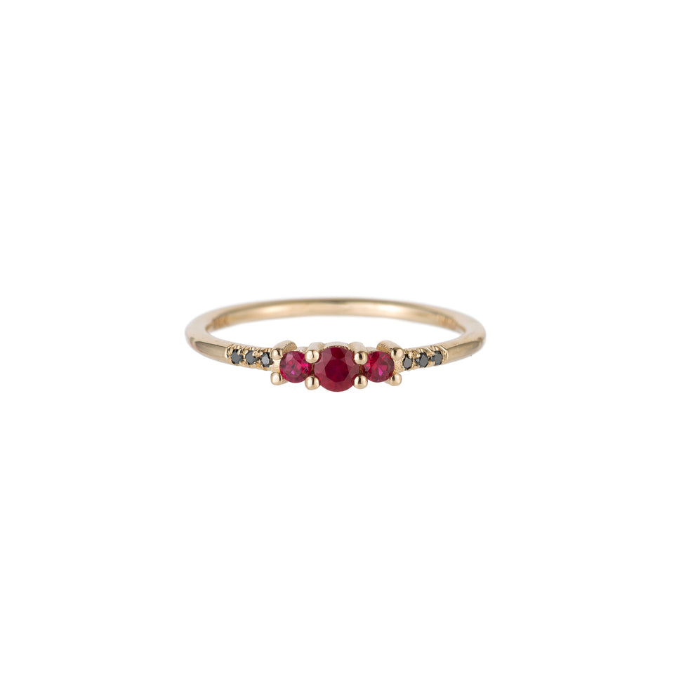 RUBY TRIO EQUILIBRIUM RING