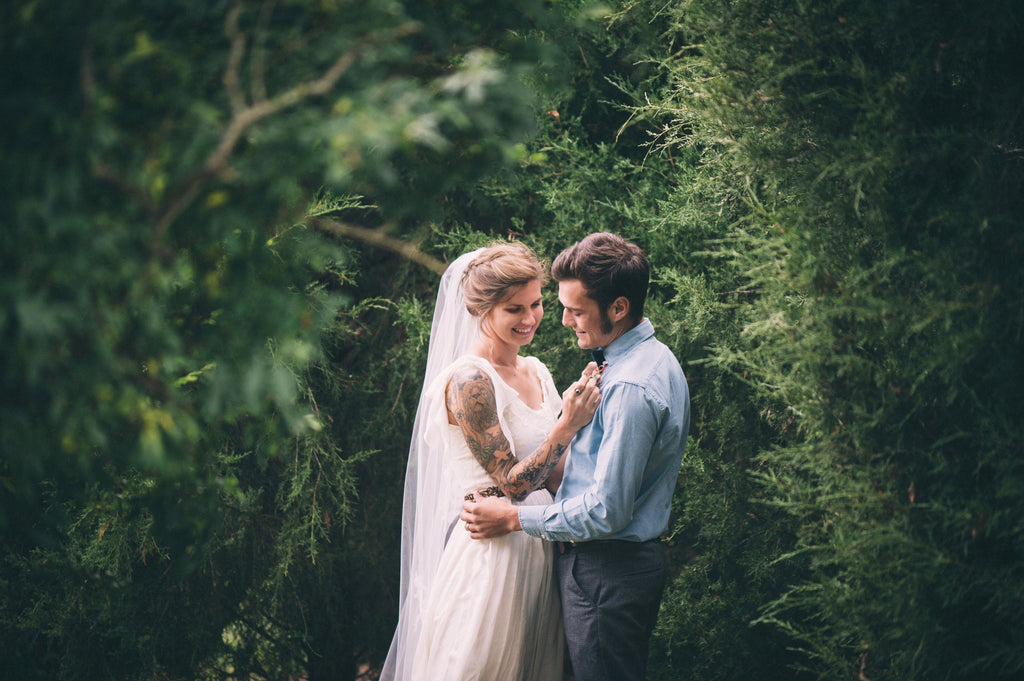 Olivia Harlow Wedding - SuzannaM Laurence Handmade Gown 2