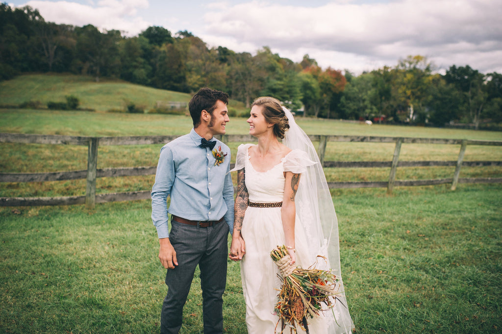 Olivia Harlow Wedding - SuzannaM Laurence Handmade Gown