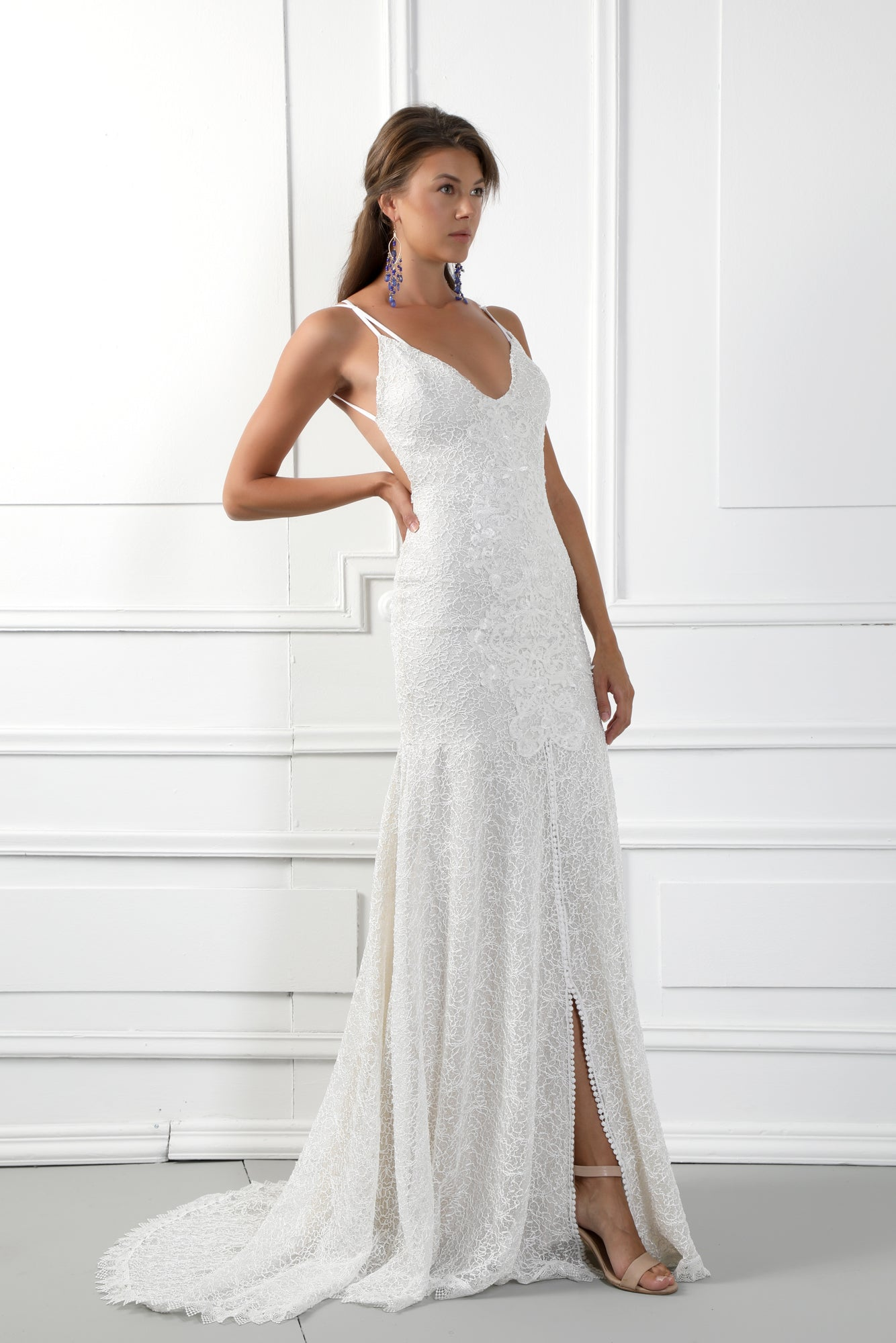 Milana 2 Handmade Low Neckline Lace Wedding Dress