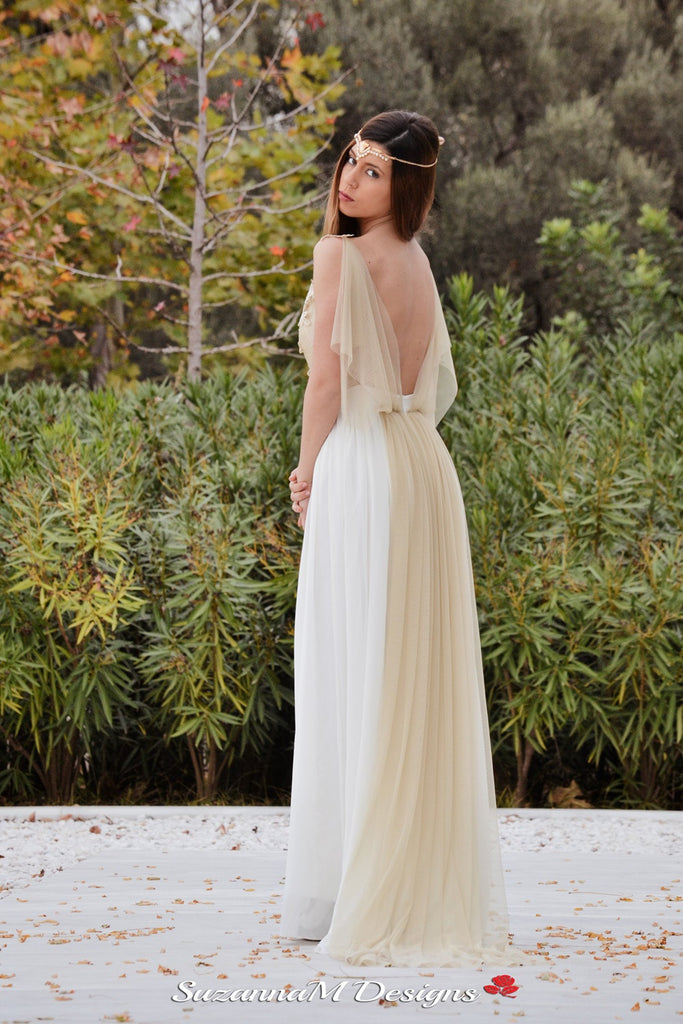 Adrienne handmade grecian wedding gown suzanna bridal adrienne handmade grecian wedding gown junglespirit Image collections