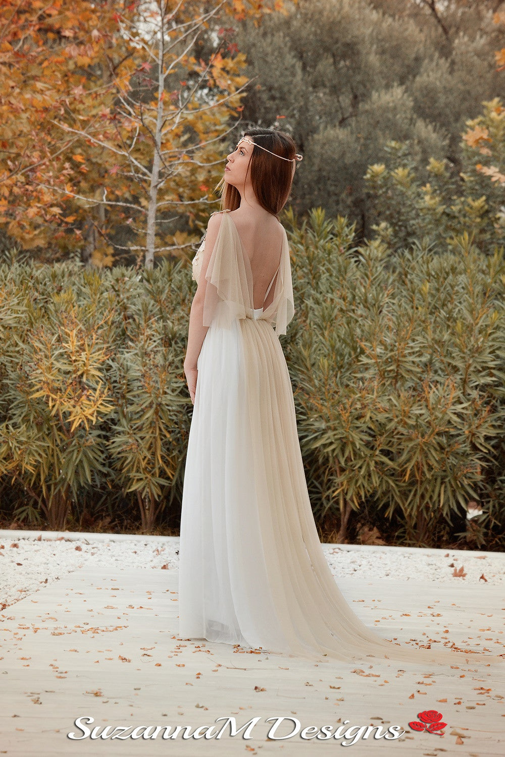 Adrienne Handmade Grecian Wedding Gown - Wedding Dress - SuzannaM Designs