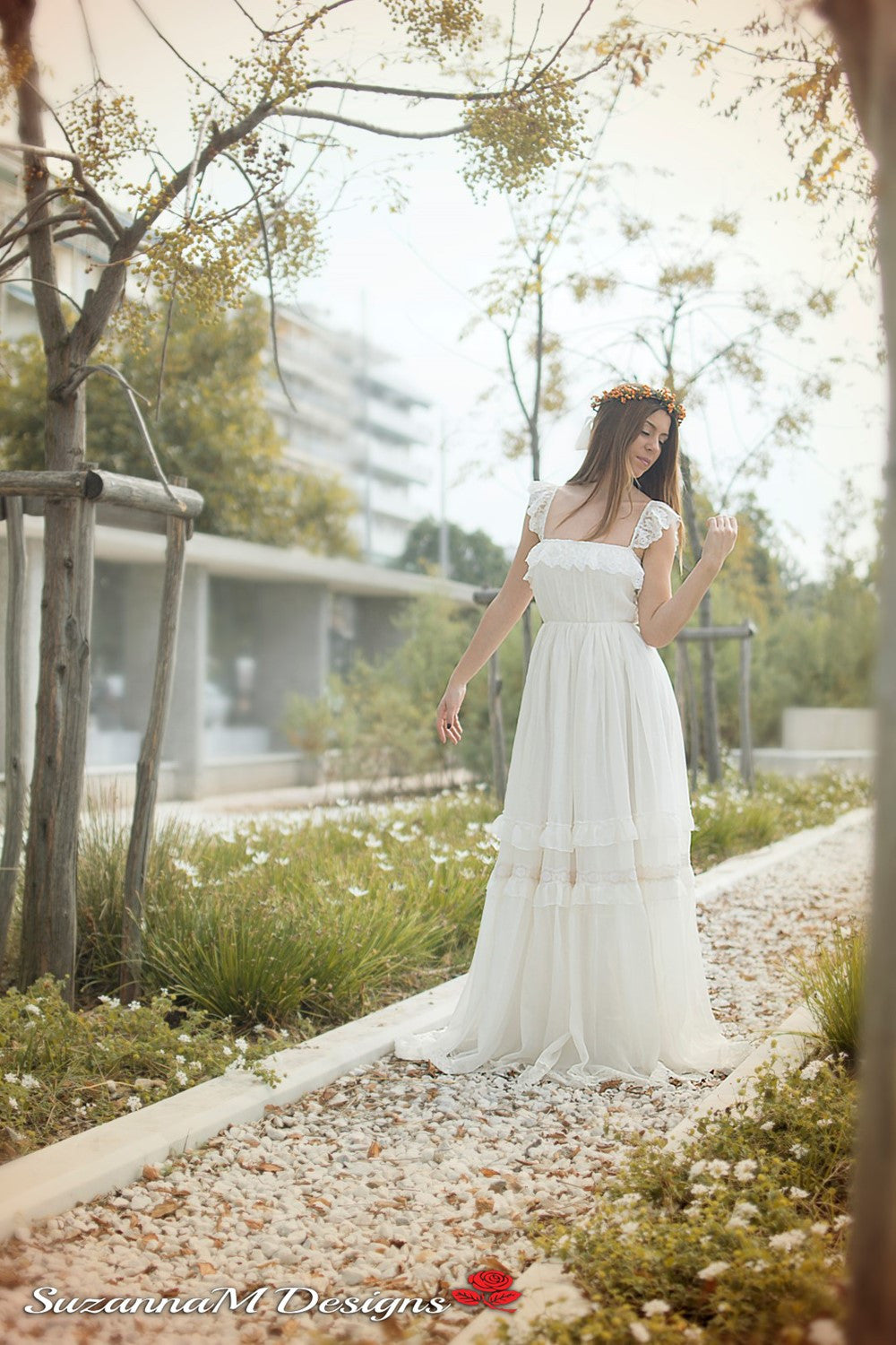 Agostina Handmade Gypsy Wedding Dress | Suzanna Bridal