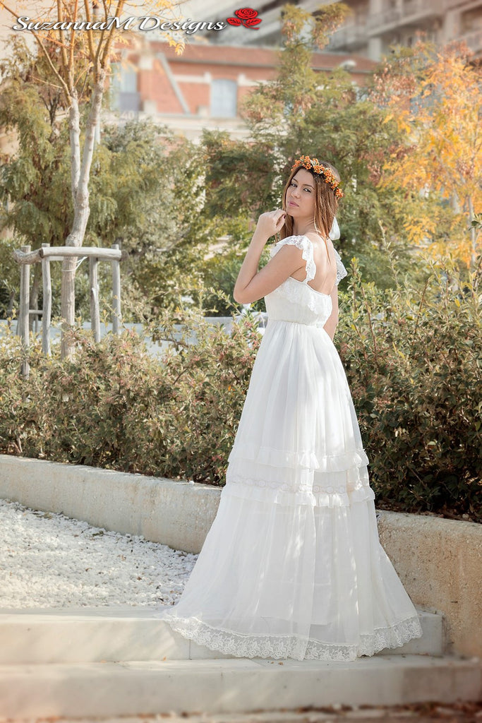 Gypsy Wedding Dresses.Agostina Handmade Gypsy Wedding Dress