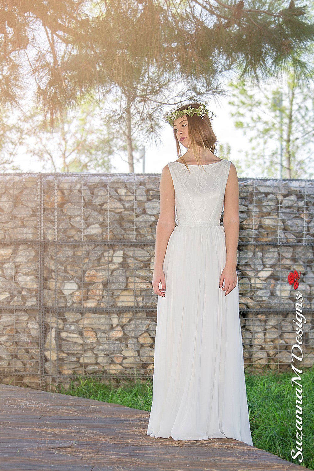 Alba Handmade Vintage Wedding Dress - Wedding Dress - SuzannaM Designs