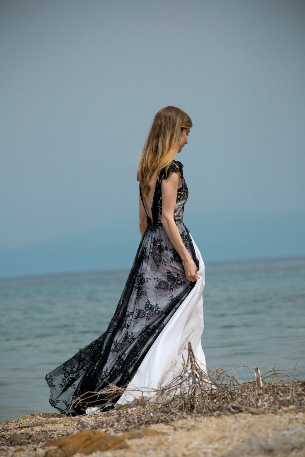 Felicita Handmade Boho & Goth Black Wedding Dress