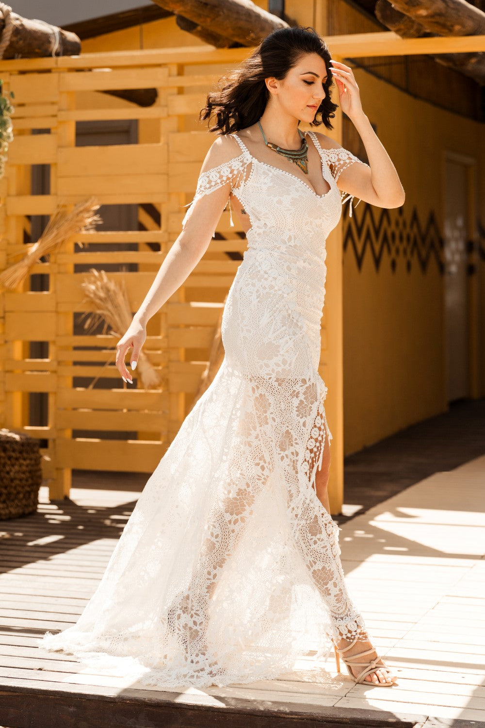 Lauretta Plunging V-Neck Wedding Dress