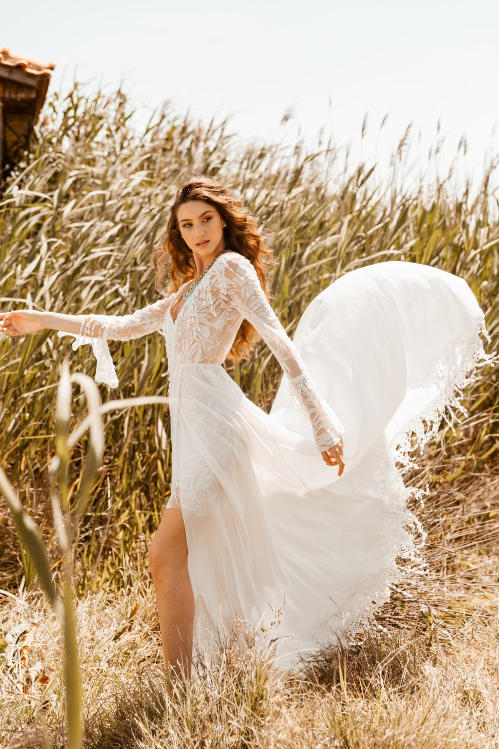 Lucita Bohemian Wrap Wedding Dress