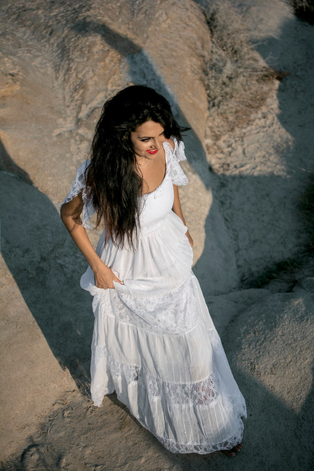 Marine Handmade Gypsy Style Wedding Gown - Wedding Dress - SuzannaM Designs