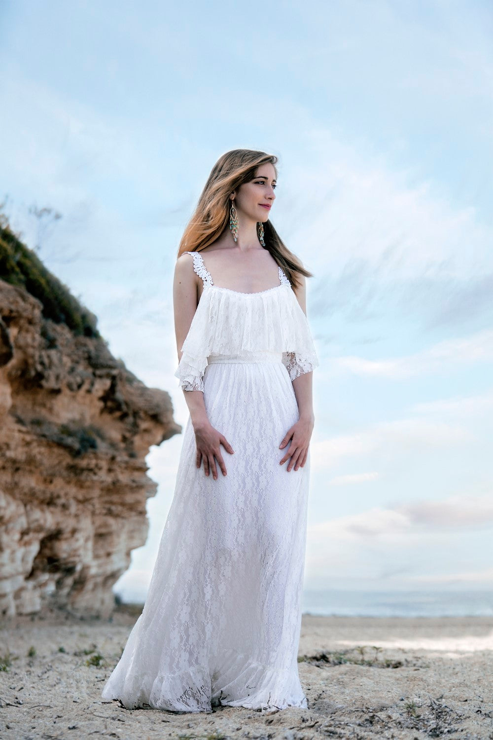 Nella Handmade Wedding Dress With Ruffles