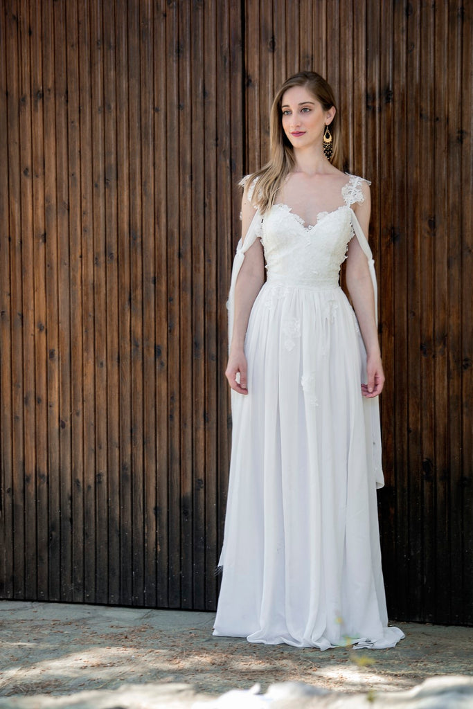 Grecian Wedding Dress.Tina Handmade Grecian Wedding Dress