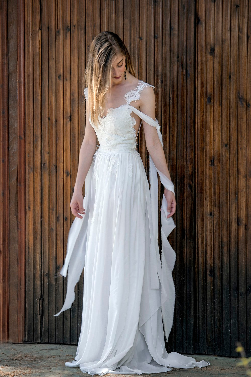Tina Handmade Grecian Wedding Dress - Wedding Dress - SuzannaM Designs