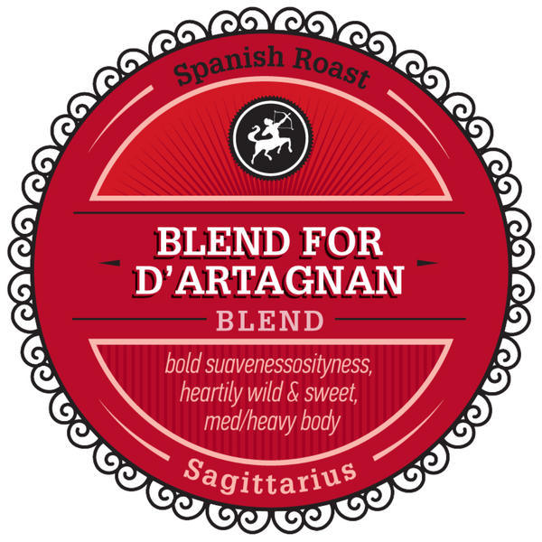 "Celebrating Sagittarius with our Featured Birthday Blend - ""Blend for D'Artagnan"""
