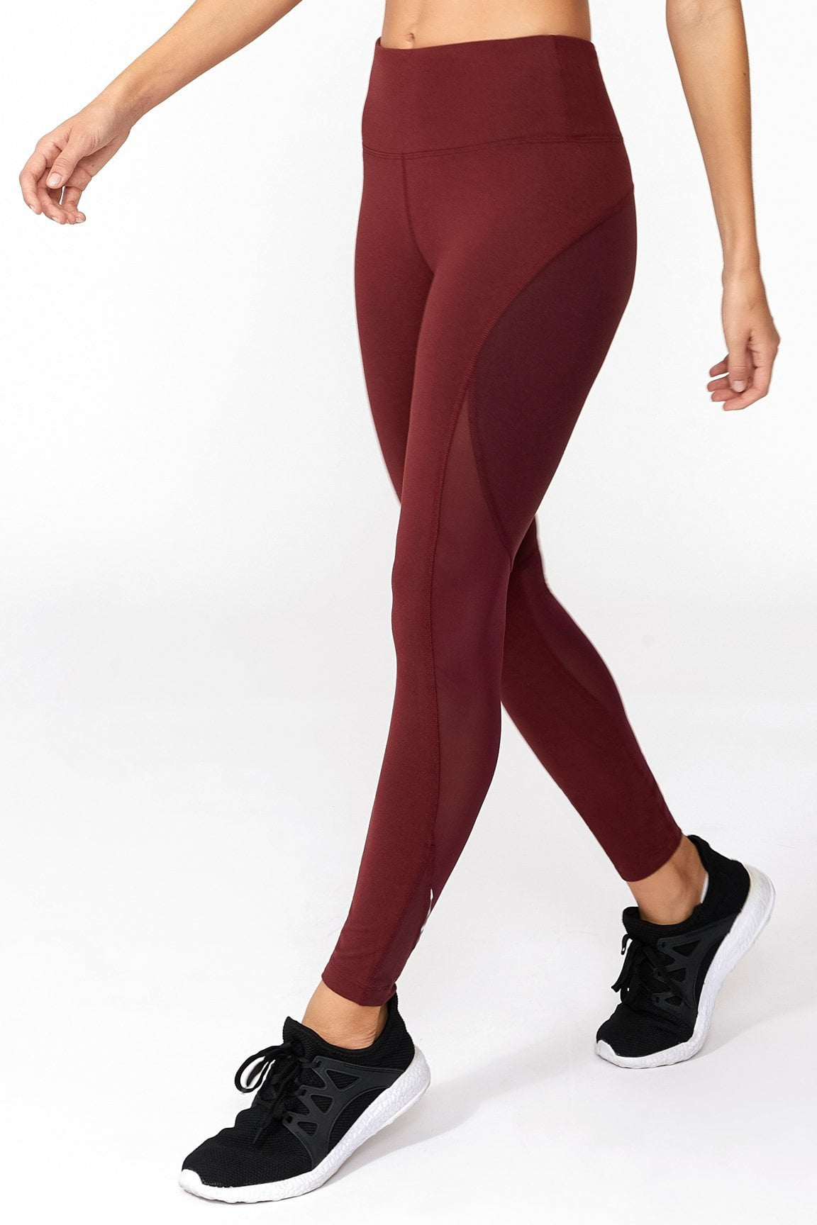 Jordan Mesh Pieced Legging (Tawny Port)