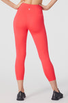 High Rise Pocket Ankle Legging (Sassy Coral)