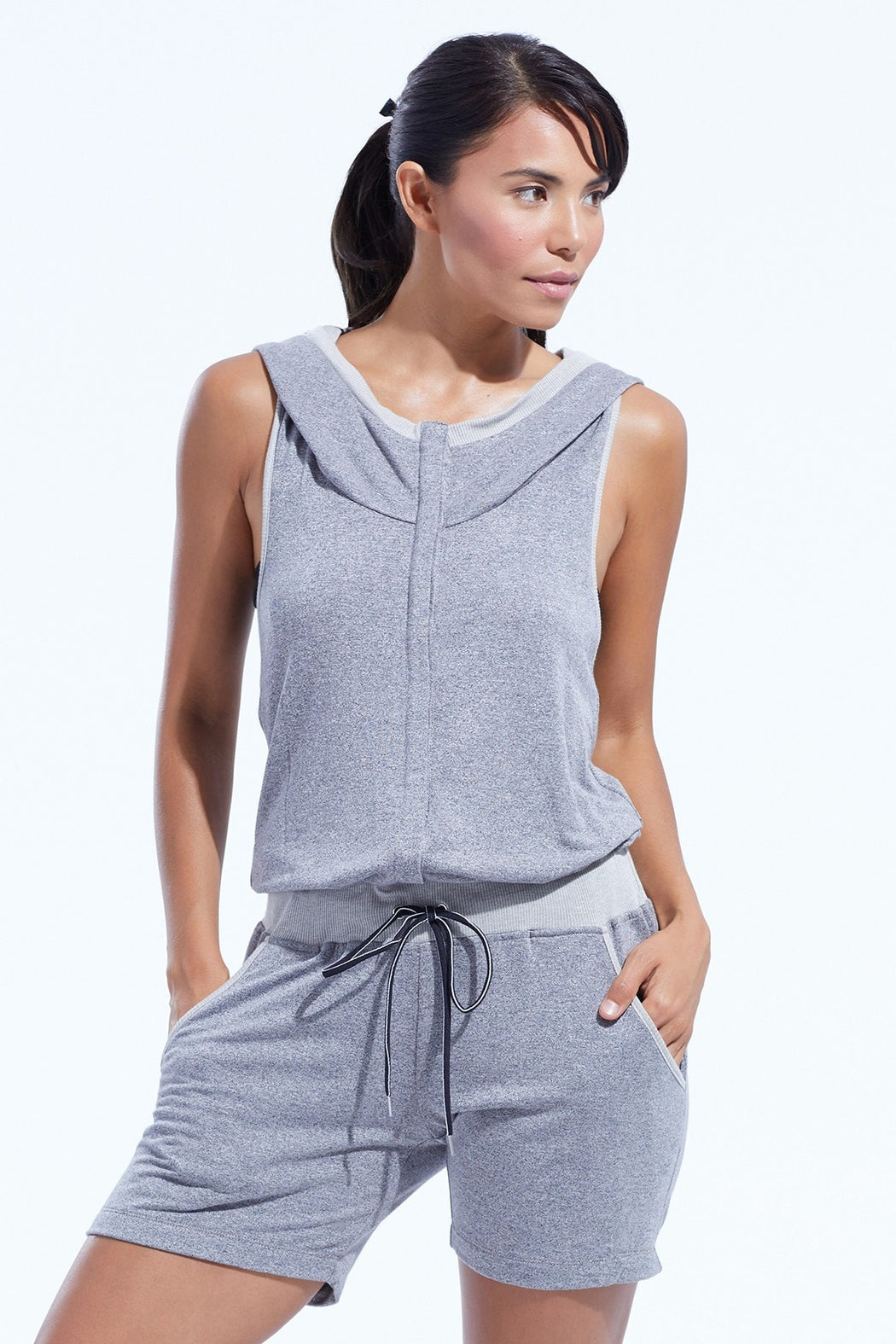 Heather Grey French Terry Jumpsuit