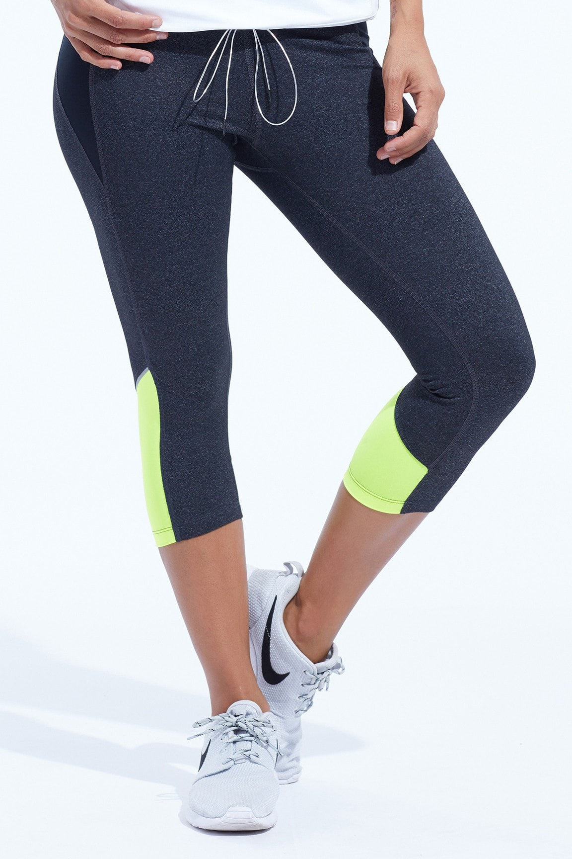 Kendal Capri- H Black w/ Neon Yellow