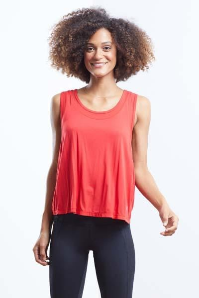 Criss Cross Singlet (red)