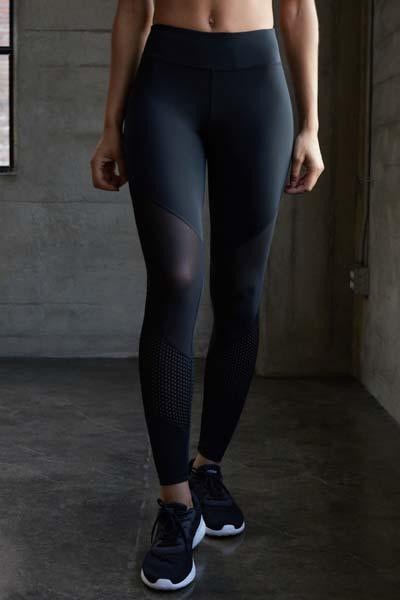 Mix Media Ankle Legging