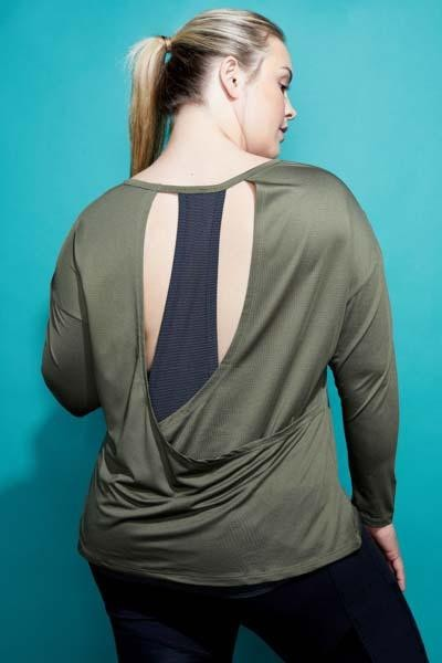 Shift Long Sleeve Top (burnt olive)