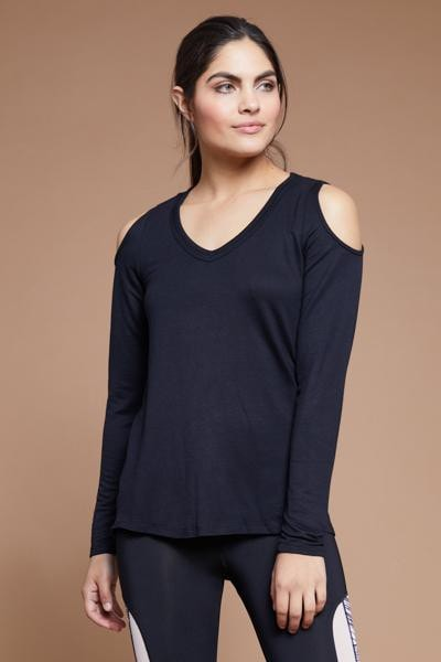 Cold Shoulder Top (black)