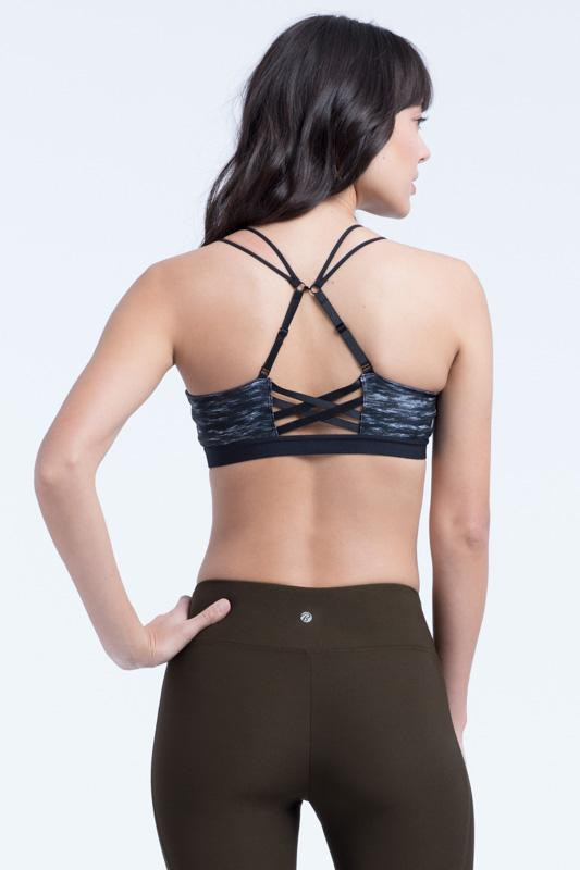 Ada Sports Bra (black space dye)