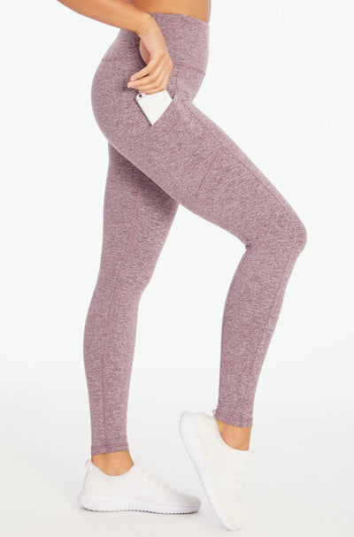 Melange Eclipse Legging (Heather Fig)