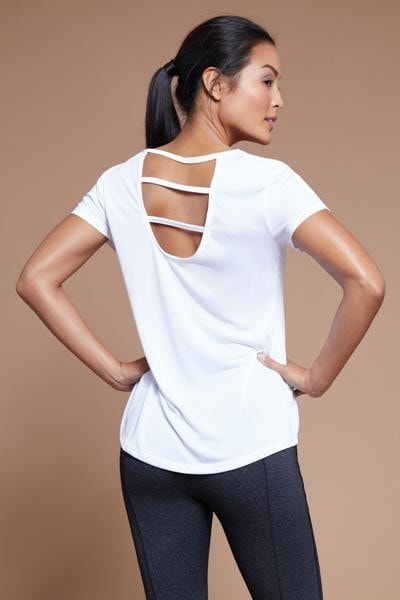 Cage Back Tee (white)
