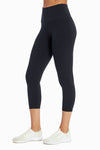 Lala High Waist Tummy Control Capri (Black)