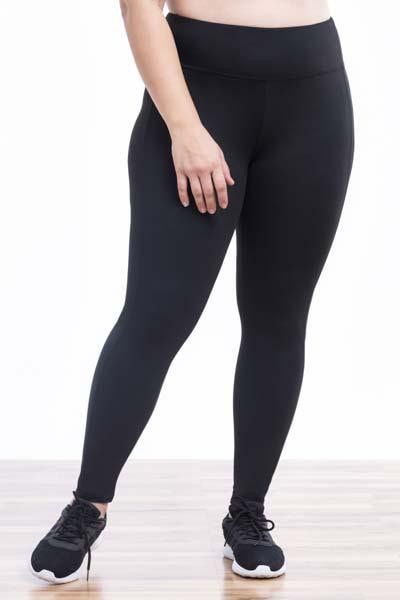 Melodie Mesh Panel Legging (black)