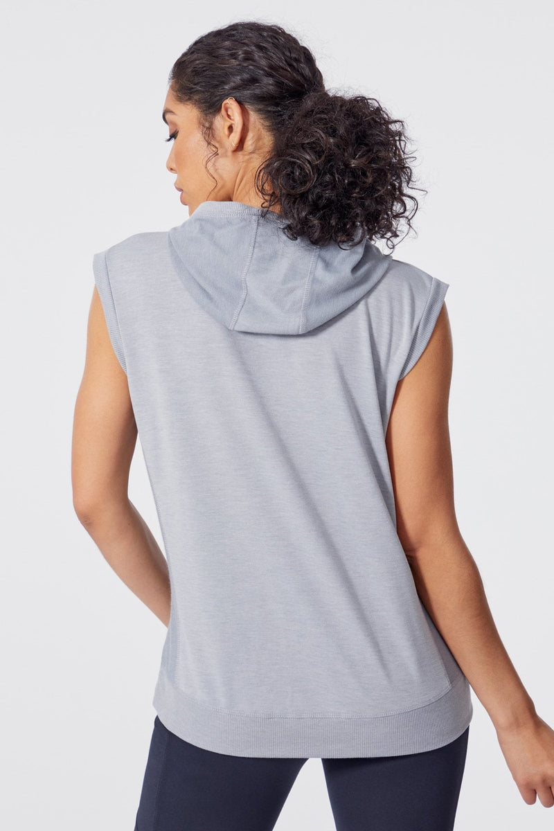 Carly Hoodie Tank (heather grey)