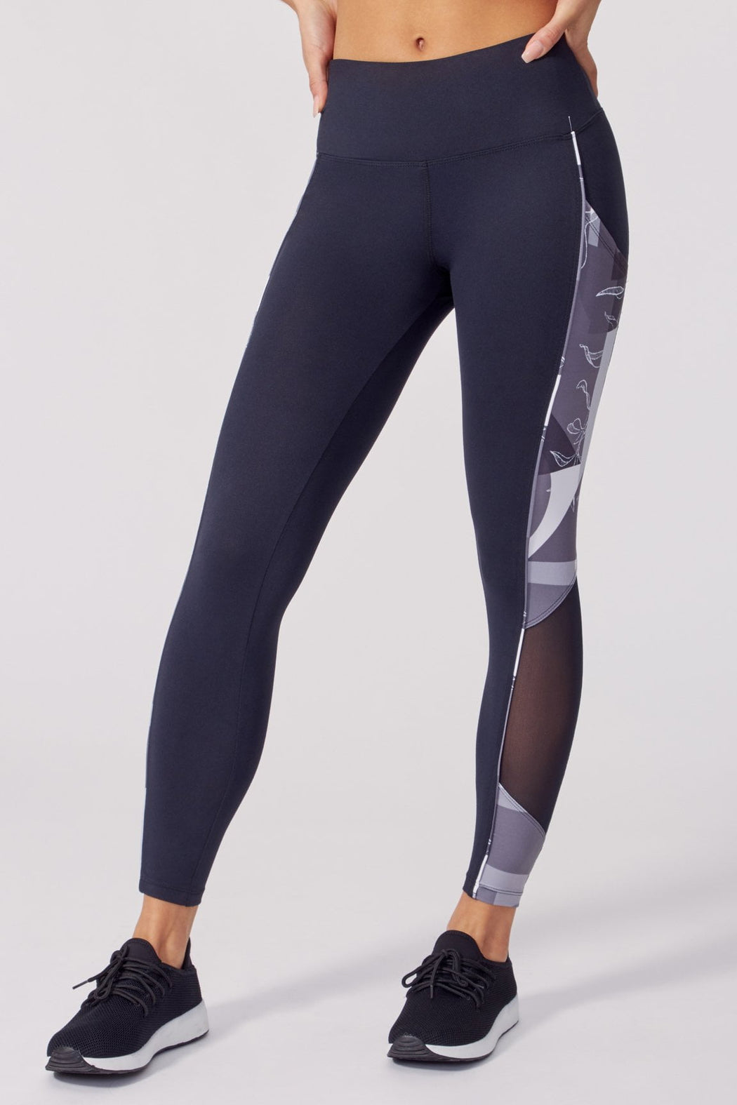 "Chandelle 25"" Legging (Black/White)"