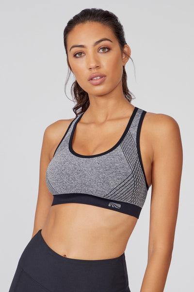 Mariane Seamless Bra (heather black/trim)