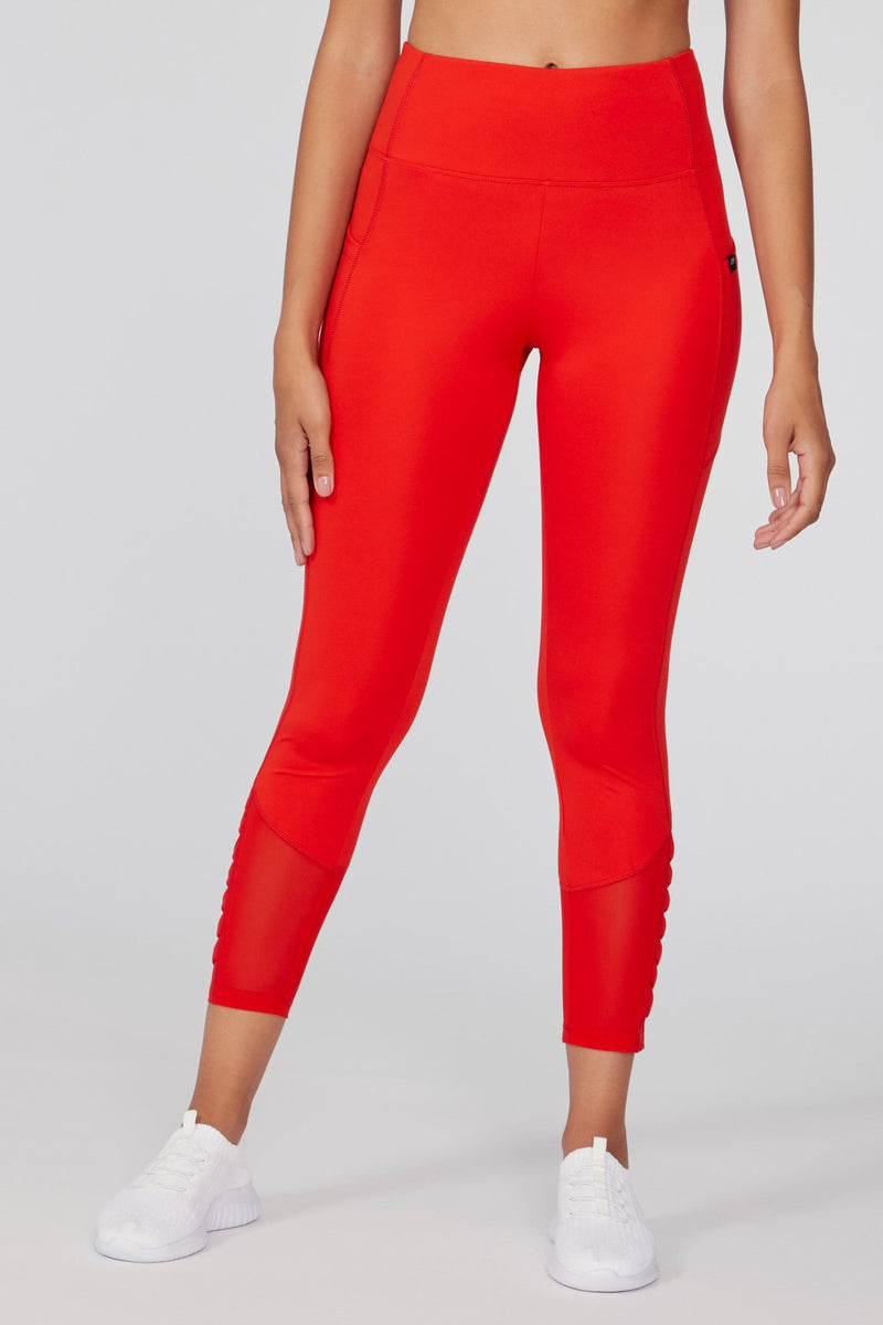 Aiden Pleated Legging (fiery red)