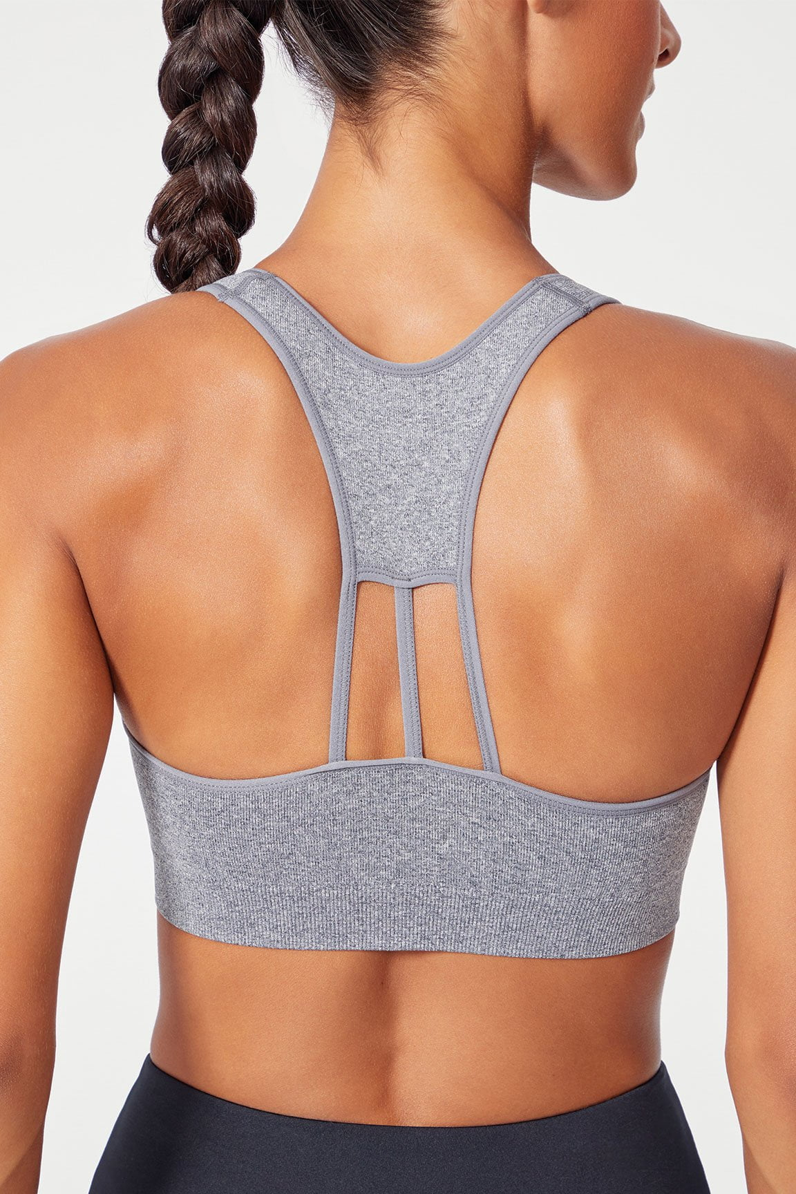Kristin Seamless Sport Bra (Heather Charcoal)