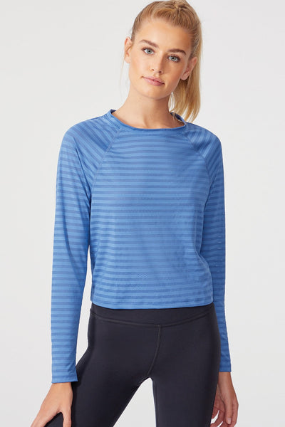 Astro Cropped Long Sleeve (Dutch Blue)