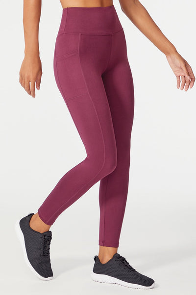 High Rise Pocket Ankle Legging (Fig)