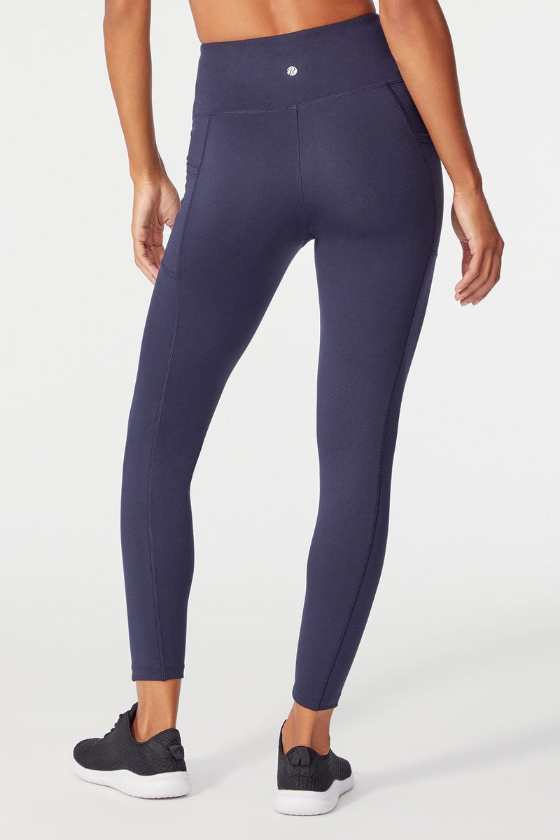 High Rise Pocket Ankle Legging (Midnight Blue)