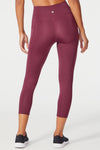 High Rise Flat Waist Mid Calf Capri (Fig)