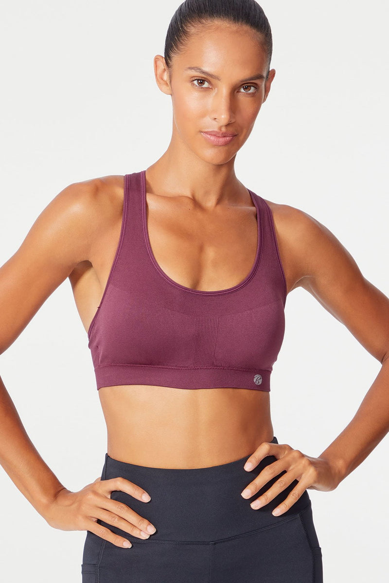 Kristin Seamless Sport Bra (Fig)