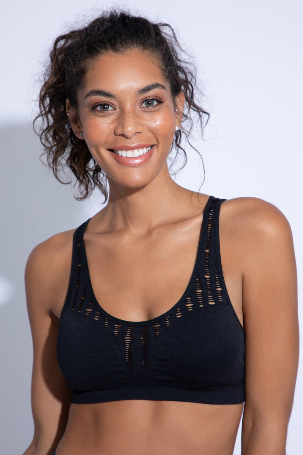 Orbit Seamless Sports Bra (black)