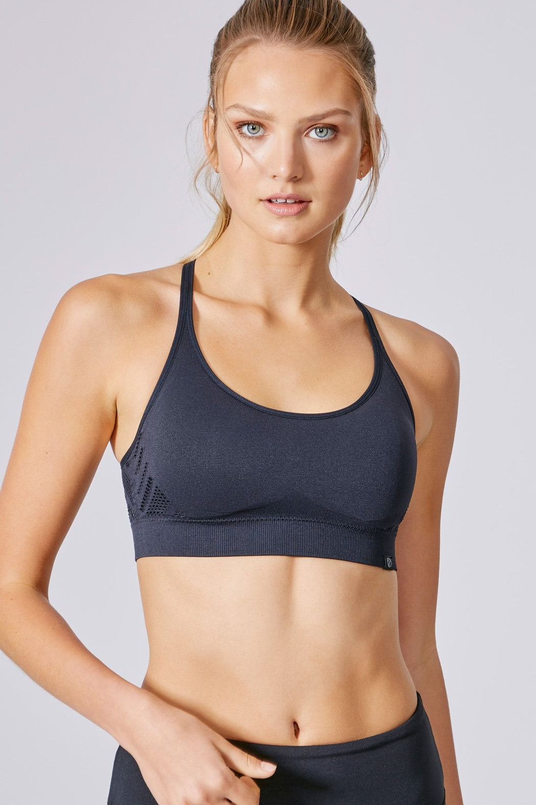 Delain Seamless Sports Bra (Black)