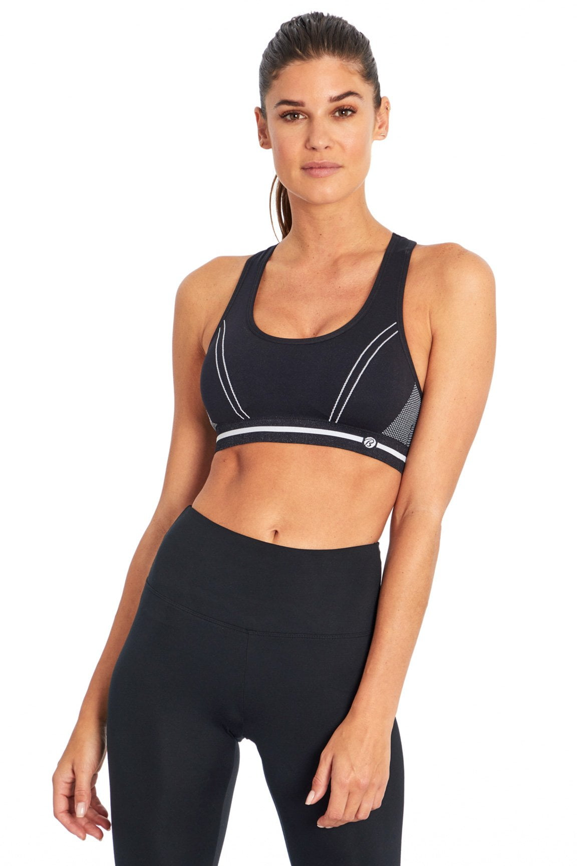 Lana Seamless Sport Bra (Black/ White)