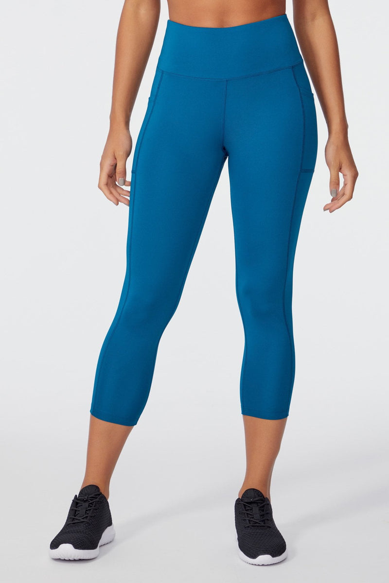 High Rise Mid Calf Capri (INK BLUE)