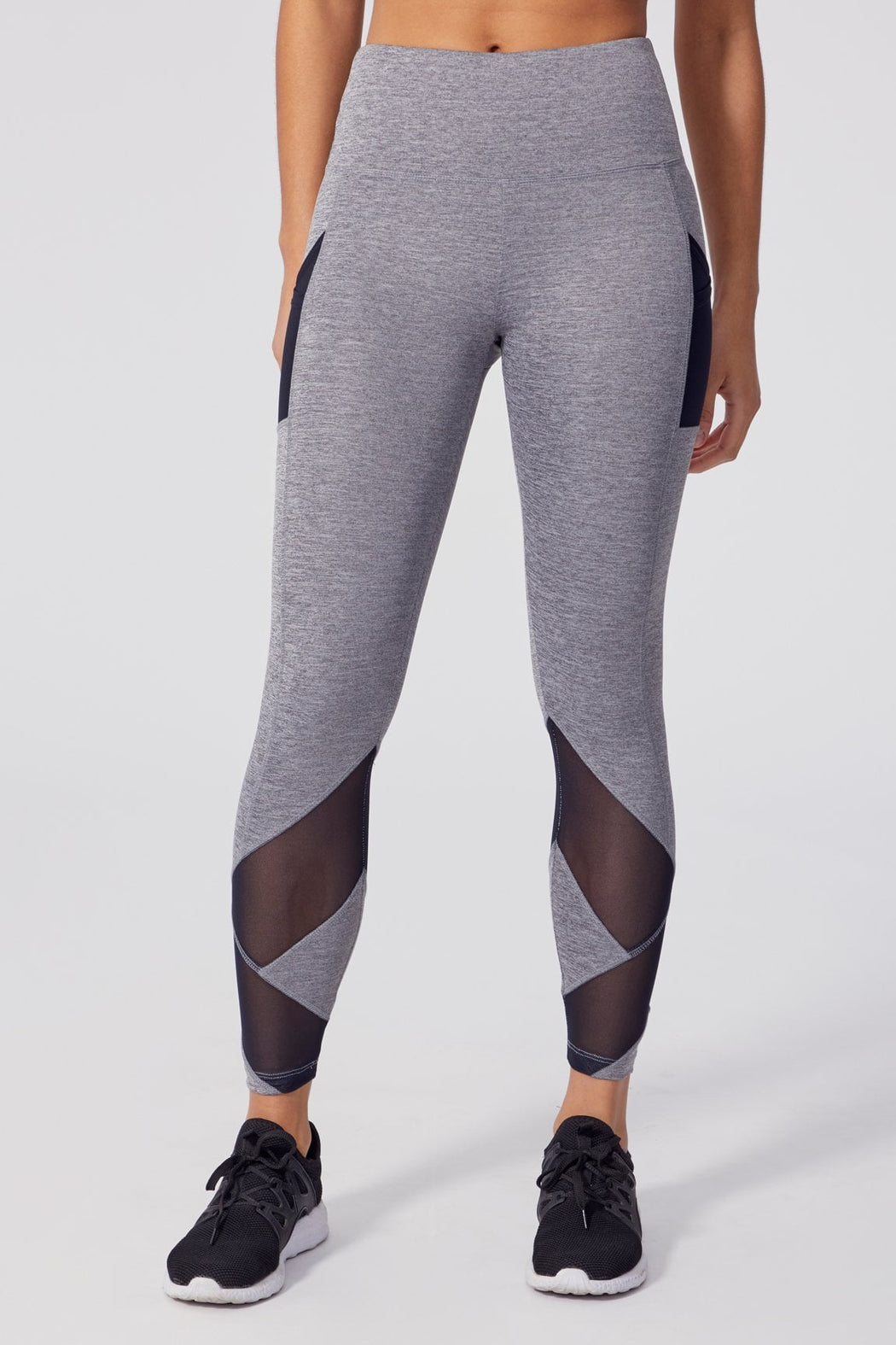 V-set Tummy Control Legging (Heather Charcoal)