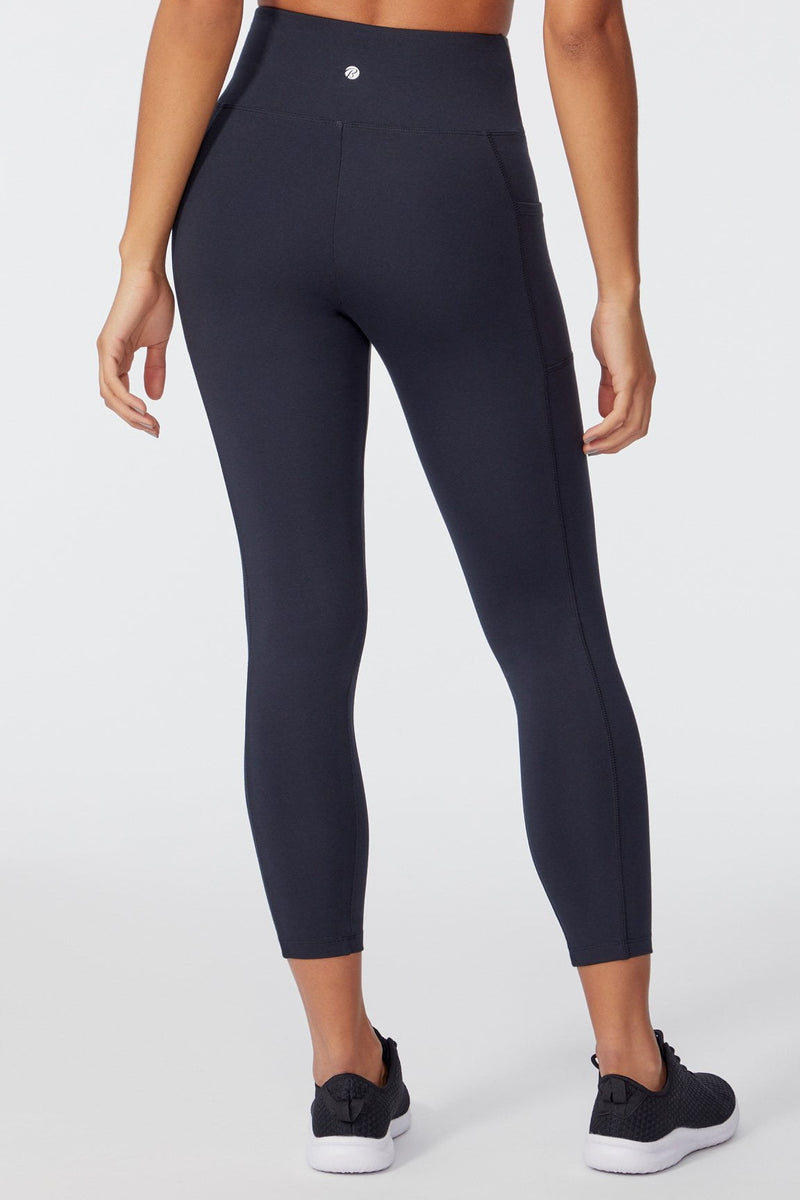 High Rise Ankle Legging (BLACK)