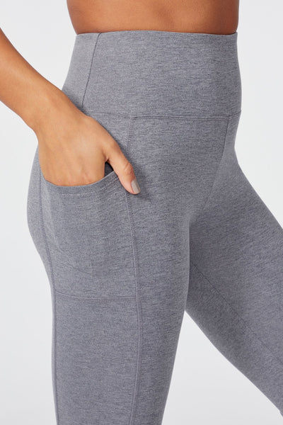 High Rise Ankle Legging (HEATHER CHARCOAL)