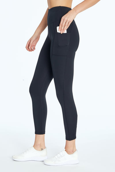 High Rise Pocket Ankle Legging (Black)